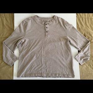 St. John's Bay Legacy Henley Cream Beige Shirt XL